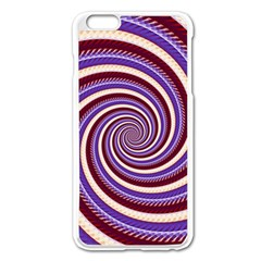 Woven Spiral Apple Iphone 6 Plus/6s Plus Enamel White Case