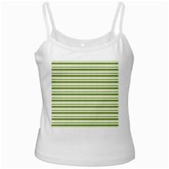 Spring Stripes White Spaghetti Tank