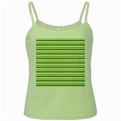 Spring Stripes Green Spaghetti Tank