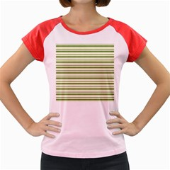 Spring Stripes Women s Cap Sleeve T Shirt