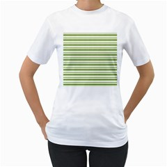 Spring Stripes Women s T Shirt (white) (two Sided)