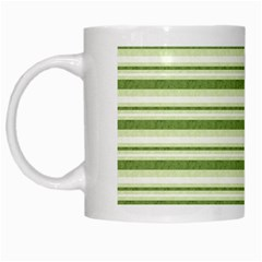 Spring Stripes White Mugs