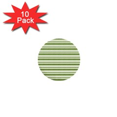 Spring Stripes 1  Mini Buttons (10 Pack)