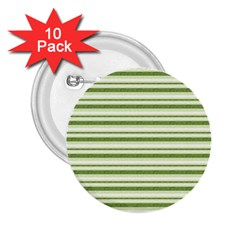Spring Stripes 2 25  Buttons (10 Pack)