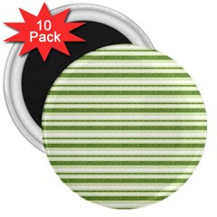 Spring Stripes 3  Magnets (10 Pack)