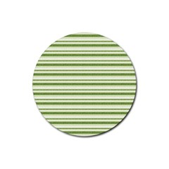 Spring Stripes Rubber Coaster (round)
