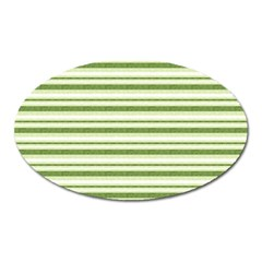 Spring Stripes Oval Magnet