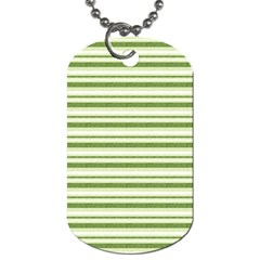 Spring Stripes Dog Tag (two Sides)