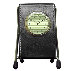 Spring Stripes Pen Holder Desk Clocks