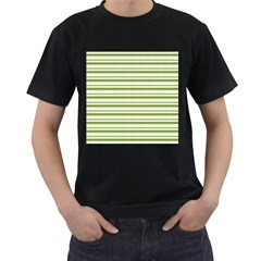 Spring Stripes Men s T Shirt (black) (two Sided)