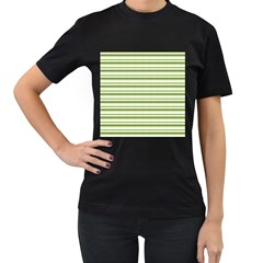 Spring Stripes Women s T Shirt (black) (two Sided)