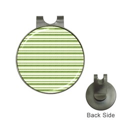 Spring Stripes Hat Clips With Golf Markers