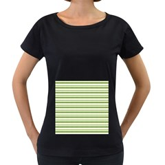 Spring Stripes Women s Loose Fit T Shirt (black)