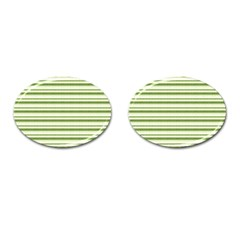 Spring Stripes Cufflinks (oval)