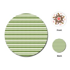 Spring Stripes Playing Cards (round)