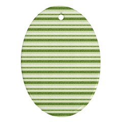 Spring Stripes Oval Ornament (two Sides)