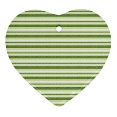 Spring Stripes Heart Ornament (two Sides)