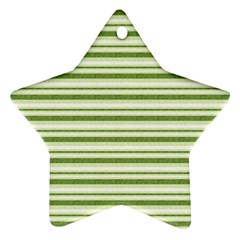 Spring Stripes Star Ornament (two Sides)