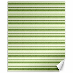 Spring Stripes Canvas 16  X 20