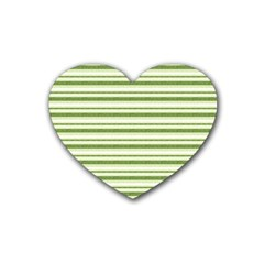 Spring Stripes Rubber Coaster (heart)