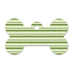 Spring Stripes Dog Tag Bone (one Side)