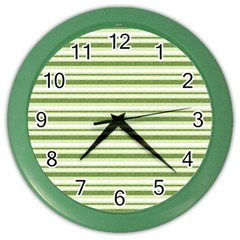 Spring Stripes Color Wall Clocks