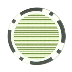 Spring Stripes Poker Chip Card Guard