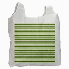 Spring Stripes Recycle Bag (one Side)