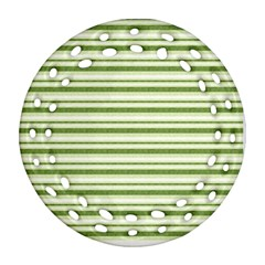 Spring Stripes Round Filigree Ornament (two Sides)