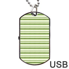 Spring Stripes Dog Tag Usb Flash (one Side)