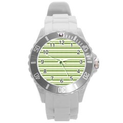 Spring Stripes Round Plastic Sport Watch (l)