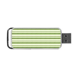 Spring Stripes Portable Usb Flash (two Sides)