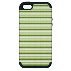 Spring Stripes Apple Iphone 5 Hardshell Case (pc+silicone)