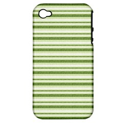 Spring Stripes Apple Iphone 4/4s Hardshell Case (pc+silicone)