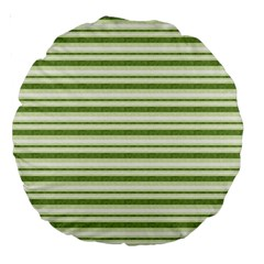 Spring Stripes Large 18  Premium Round Cushions