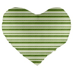 Spring Stripes Large 19  Premium Heart Shape Cushions