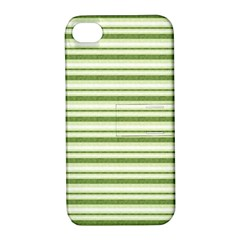 Spring Stripes Apple Iphone 4/4s Hardshell Case With Stand