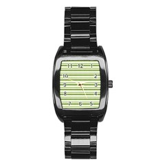 Spring Stripes Stainless Steel Barrel Watch