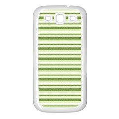 Spring Stripes Samsung Galaxy S3 Back Case (white)