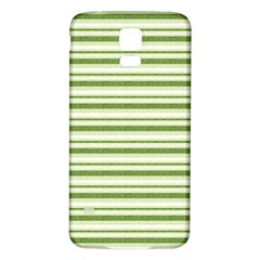 Spring Stripes Samsung Galaxy S5 Back Case (white)
