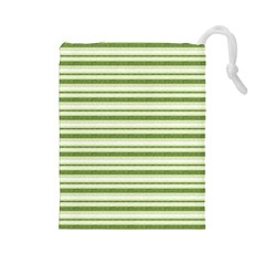 Spring Stripes Drawstring Pouches (large)