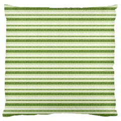 Spring Stripes Large Flano Cushion Case (one Side)