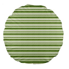 Spring Stripes Large 18  Premium Flano Round Cushions
