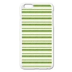Spring Stripes Apple Iphone 6 Plus/6s Plus Enamel White Case
