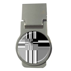 Black And White Endless Window Money Clips (round)