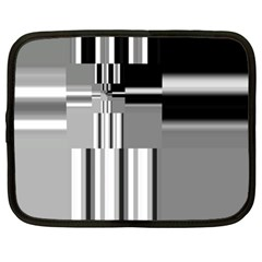 Black And White Endless Window Netbook Case (xl)