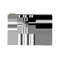 Black And White Endless Window Cosmetic Bag (large)