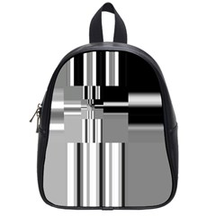 Black And White Endless Window School Bag (small)