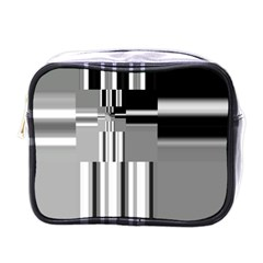 Black And White Endless Window Mini Toiletries Bags