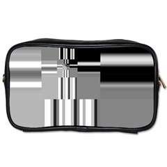 Black And White Endless Window Toiletries Bags 2 Side